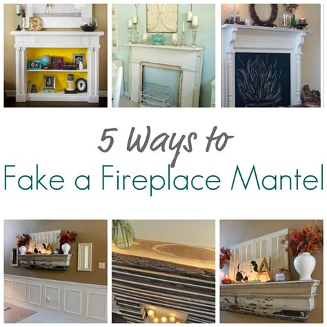 How To Decorate My Living Room by 5 Ways To Fake A Fireplace Mantel Infarrantly Creative