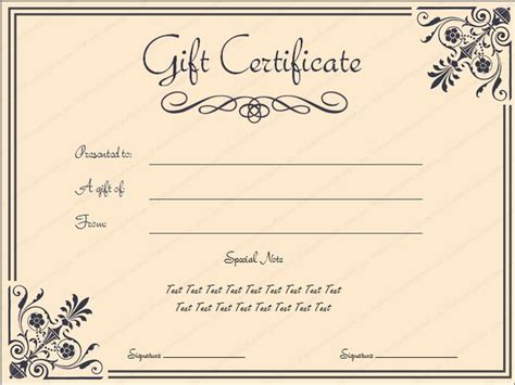 simple gift certificate template giftvoucher gifttemplate giftcertificate