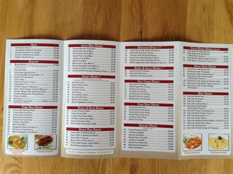 lotus house menu picture of lotus house droitwich tripadvisor