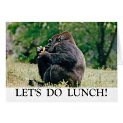 let s do lunch greeting card zazzle