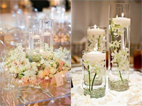 lade da tavolo shabby chic hermosos centros de mesa con velas flotantes dale detalles