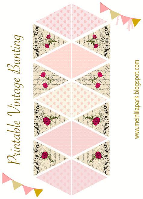 vintage bunting template free printable diy vintage bunting ausdruckbare