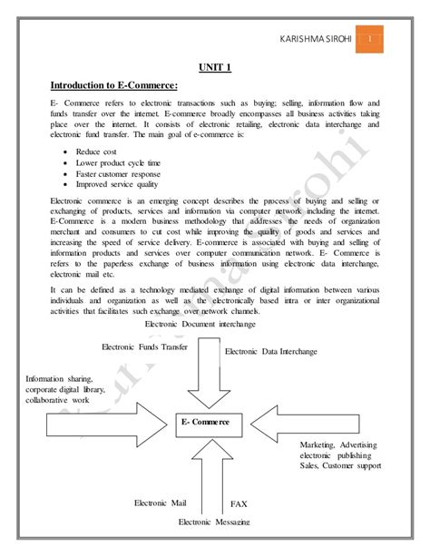 Mba Fundamentals Pdf by E Commerce Notes For Mba