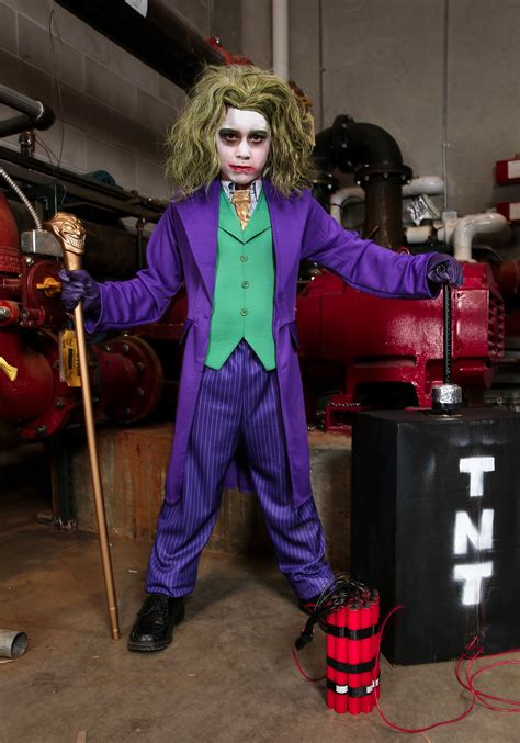 joker deluxe child costume batman joker halloween