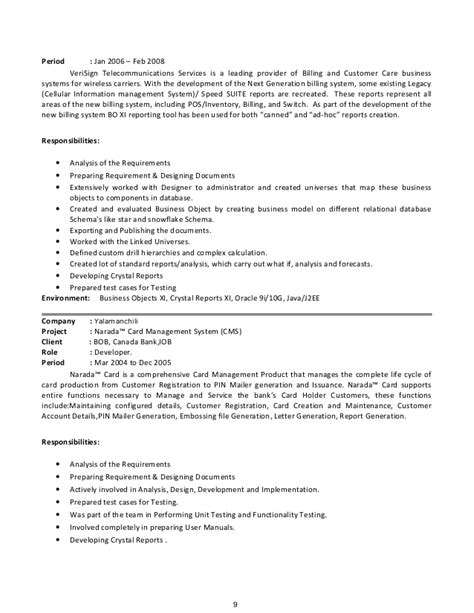Business Objects Resume by Sap Business Objects Developer Resume Resume Ideas