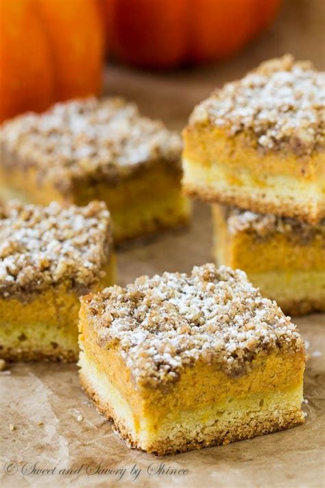 pumpkin bars with streusel topping pumpkin streusel bars sweet savory by shinee