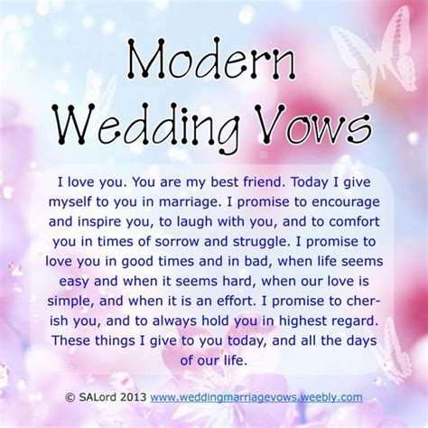 template of wedding vows modern wedding marriage vows sle vow exles vows