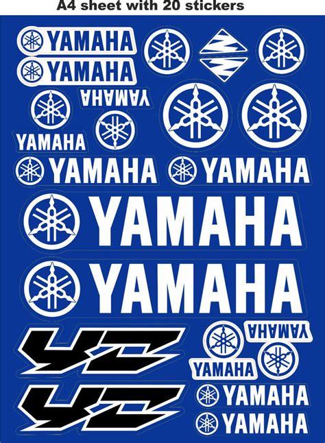 Motorrad Helm Sticker by Yamaha Stickers Race Stickers Decals Helmet Decal