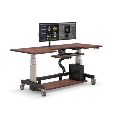Adjustable Height Rolling Computer Desk Afcindustries Com Variable Height Computer Desk