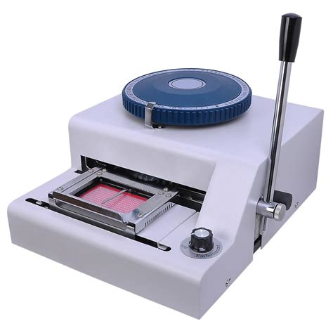 pvc card machine pvc plastic card manual embosser embossing machine thelashop