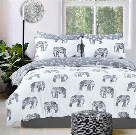 elephant bed sheets elephant printed grey duvet quilt cover set linens range