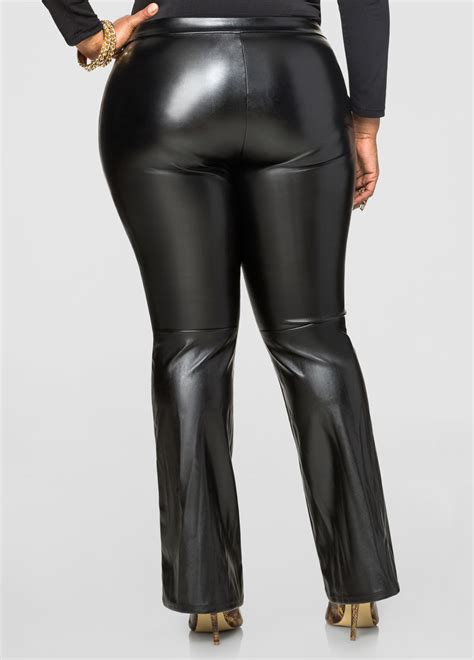 Lace Up Leather lace up front faux leather plus size
