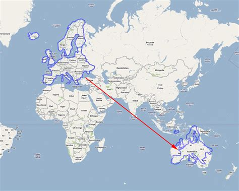 map uk to australia the area of australia compared to the united states on