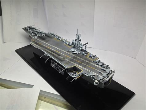 Am 14213 1439 1 800 Uss Nimitz academy plastic model kit atomic aircraft carrier cvn 68
