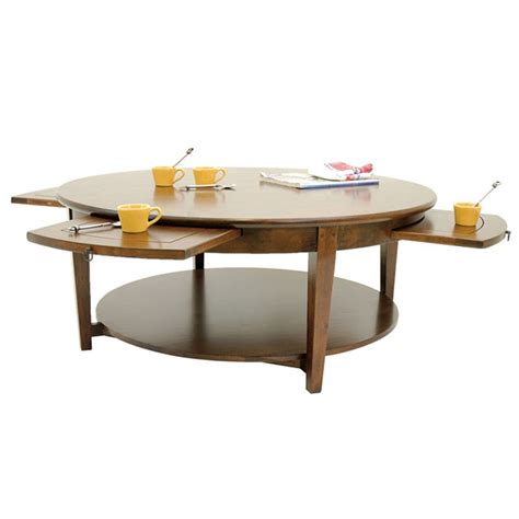 Table Basse Ronde by Mobilier De Salon Table Basse Ronde 224 Tiroirs Tradition