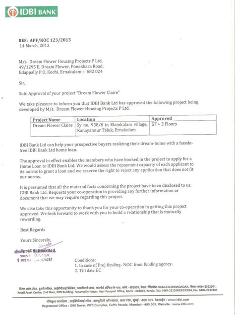 Housing Loan Letter Of Offer Project Approved By Hdfc For Home Loan Home Decor Ideas