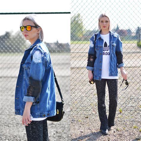 Nena Oversized Jacket nena f h m flared trousers asos denim jacket adidas logo t shirt and flared lookbook
