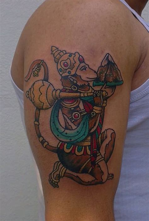 hanuman tattoo 32 iconic hindu tattoos that will inspire you tattoosera