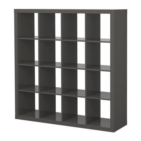 ikea expedit shelving unit bookcase high gloss gray