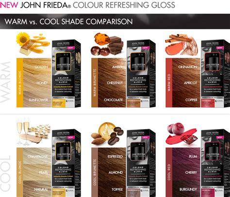 john frieda vs loreal hair color colour refreshing gloss precision foam colour of john