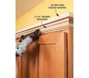 Kitchen Cabinet Crown Molding Installation Installing Crown Molding On Kitchen Cabinets Kitchen