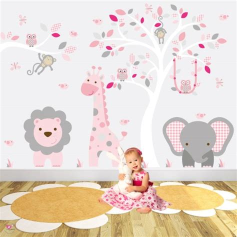 safari wall decals for nursery safari woodland nursery wall stickers