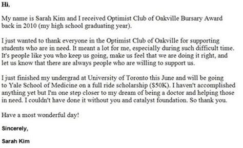 Commitment Letter For Bursary Optimist Club Of Oakville