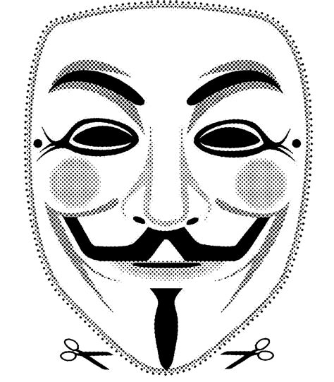 V For Vendetta Coloring Pages by 3 High Quality Printable Vendetta Fawkes Mask Cut Out
