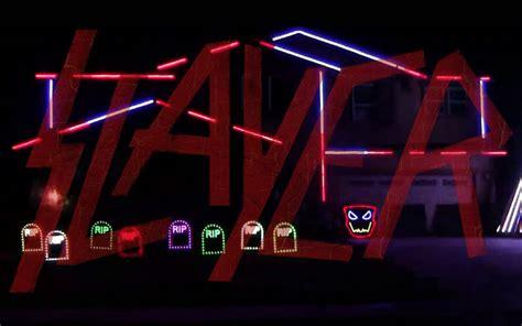 slayer bob christmas lights you must see this slayer halloween lights show ghost