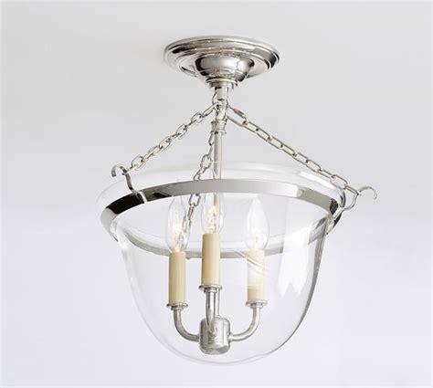 pottery barn flush mount light hundi 3 light semi flushmount lantern bronze finish