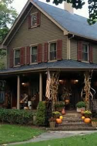 country farmhouse porch primtastic fall pinterest