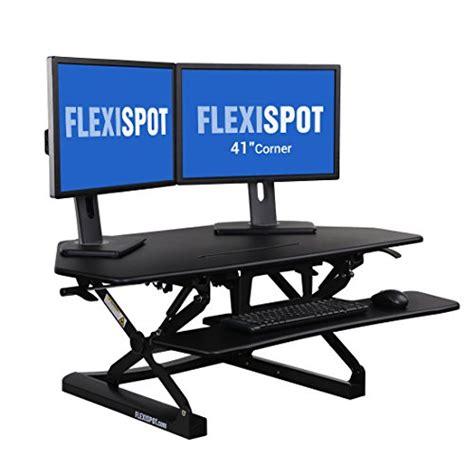 dual monitor corner desk flexispot standing desk 41 quot cubicles corner desk riser
