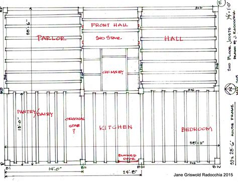 wood floor framing plan griswold radocchia the cobb hepburn house frame