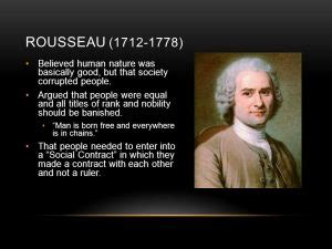 jean jacques rousseau popular sovereignty general  state  nature  education