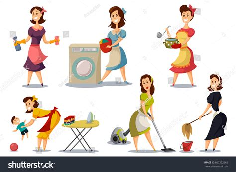 50s cartoons illustrations vector stock images 8946 housewives vintage retro style 50s vector stock vector