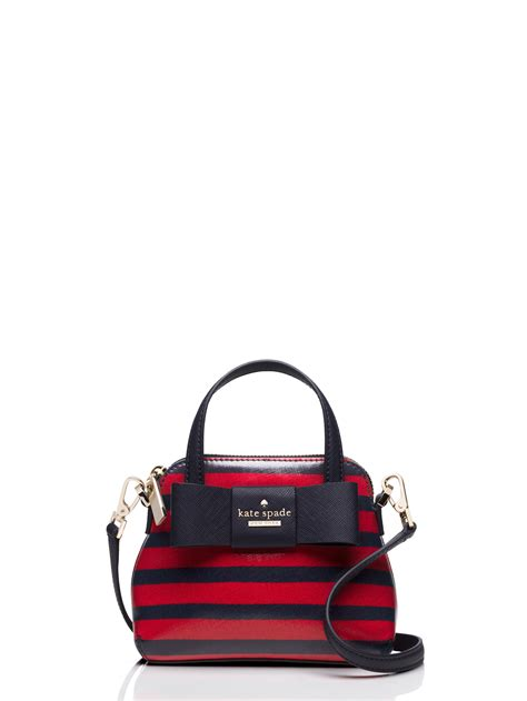 Jual Kate Spade Mini Navy Blue 1 lyst kate spade new york stripe mini maise in blue