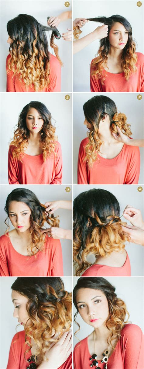 how to curl loose curls on a side ethnic hair love my hairstyle curly side waterfall braid