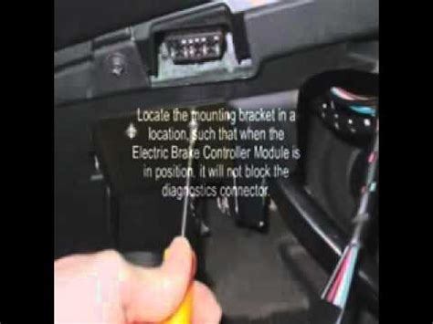 electric trailer brake controller installation for land
