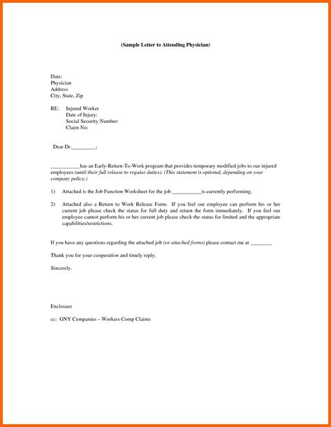 Release Letter From Work 9 10 work release from doctor formsresume