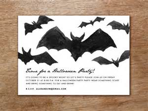 printable halloween invitation bats