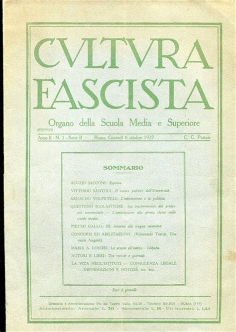 libreria scuola e cultura fascism marelibri