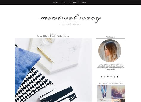stylish templates for blogger minimal blogger template fashion blogger theme