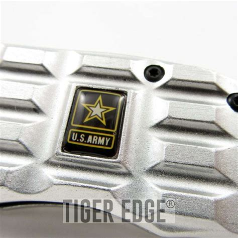 rugged gifts us army silver rugged handle assist folding pocket knife s gift