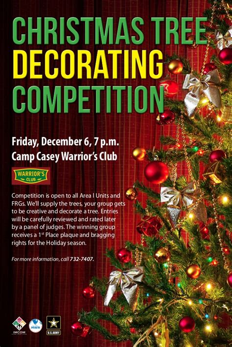 christmas decoration compitition tree decorating competition