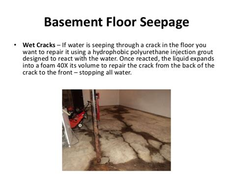basement seepage solutions