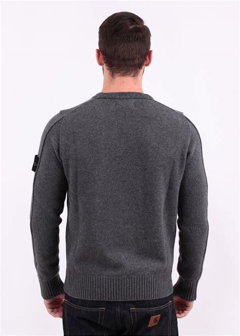 Conventional Knit Cardigan island knit crew sweater grey