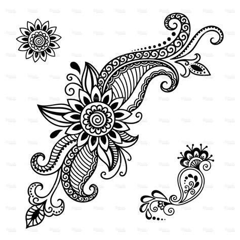 henna tattoo template henna flower template mehndi flowers