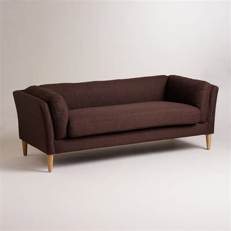 sofa xxx chocolate brown deegan sofa world market