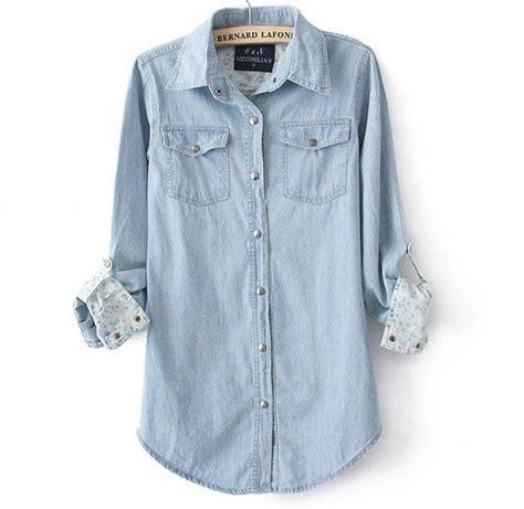 light blue button up shirt womens light blue denim shirt for on luulla