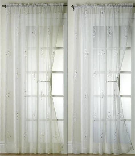jewel curtains jewel voile curtain panel 48 quot 54 quot 72 quot 90 quot gold silver ebay